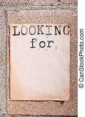 Looking for - The old announcement on a fence from concrete ...