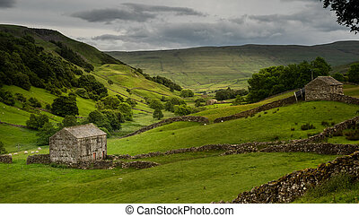 The old barns in Swaledale