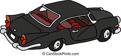 The old black sport sedan