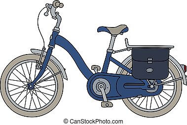 The old blue bicycle