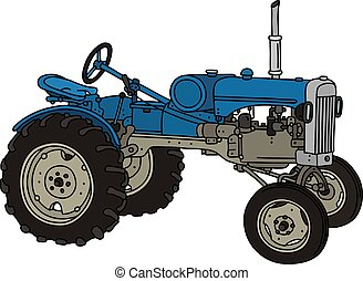 The old blue tractor