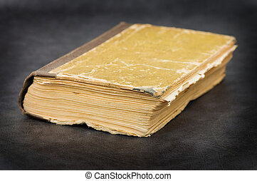 The old book on a grey background