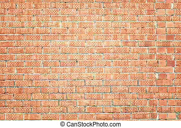 The old brick wall in red color
