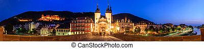 The Old Bridge and gate in Heidelberg