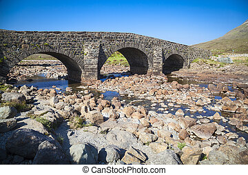 The old bridge at Sligachan on the Isle of Skye, Scotland