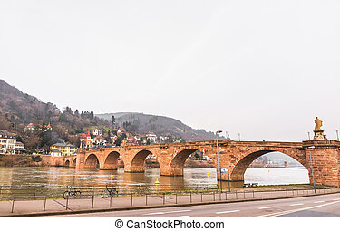 The old bridge cross River Neckar in Heidelberg, Germany