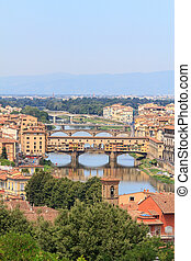 """The """"old bridge"""" in Florence named Ponte Vecchio"""