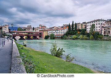Bassano del Grappa, Veneto, Italy - The Old Bridge of ...