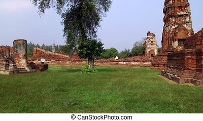 The old Buddhist temple of Wat Mahathat, Sukhothai, UNESCO World Heritage Site, Thailand, Asia - 21st of January 2020