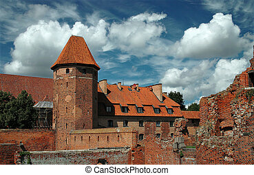The old castle Malbork - Poland.