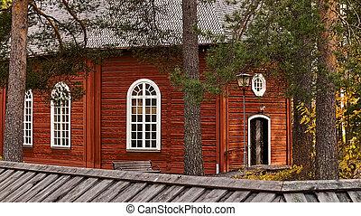 The old church (gamla kyrka) in Jokkmokk, Swedish Lapland.