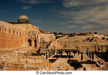 Jerusalem - The old city of Jerusalem in Israel