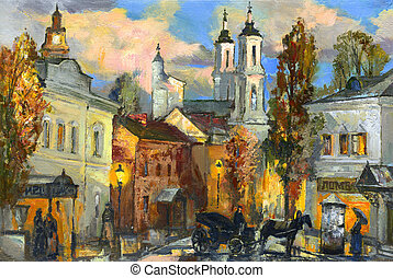 The old city of Vitebsk - Old street in ancient Vitebsk