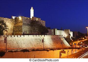 The old city wall of Jerusalem