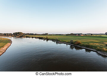 The old Dutch river IJssel on a sunny afternoon - The old...