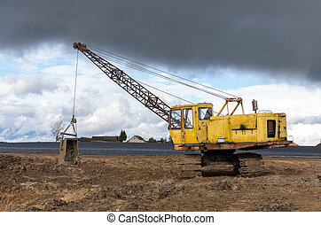 The old excavator