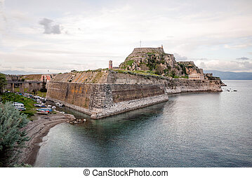 the old fort in the city of Corfu
