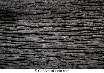 The old grunge dark texture wooden background.