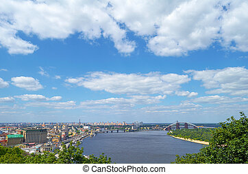 The old Kiev city - the capital of Ukraine and the Dnieper River