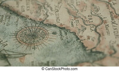 The old kind of map with the location of Bengala