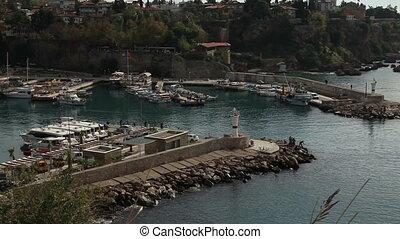 Antalya - The old marina of  Antalya in  Turkey