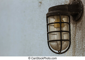 lamp on the wall.