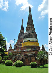 The Old Pagoda with Grass
