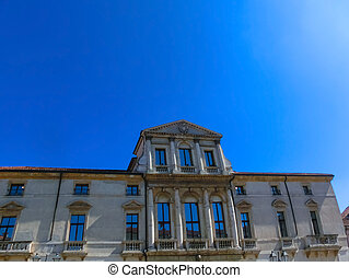 The old Palazzo in Vicenza designed by Andrea Palladio at ...
