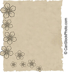 the old paper vector grunge background