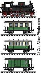 The old passenger steam train