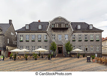 houses on the market square in Goslar, Germany