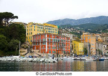 the old port Bastia, Corsica, France - the old port Bastia ...