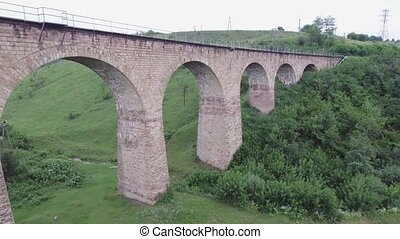 The old railroad bridge, built in the time of...