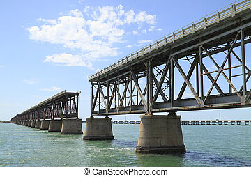 The old Railroad Bridge on Bahia Ho - The old Flagler...