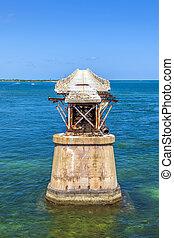 old Railroad Bridge on the Bahia Honda Key - The old...