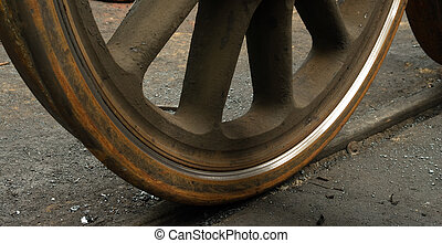 The old railway wheels