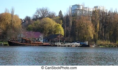 The old rescue station on the Southern Bug River (Ukraine, Vinnitsa)