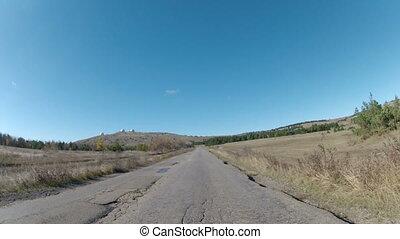 road on a mountain plateau