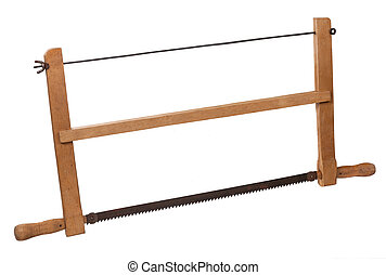 The old saw is isolated on a white background