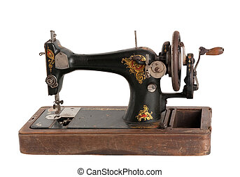 The old sewing machine - Vintage Sewing machine isolated...