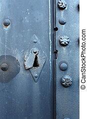 Old steel door