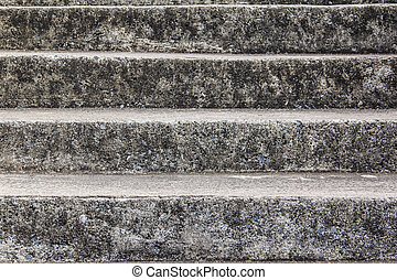 the old stone staircase at Suanluang RAMA IX