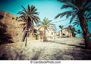 The old streets of Jaffa, Tel Aviv, Israel