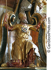 The Old Testament prophet on the pulpit in the Church of Our Lady of the Snows in Belec, Croatia