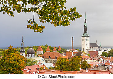 The Old Town of Tallinn in autumn colors