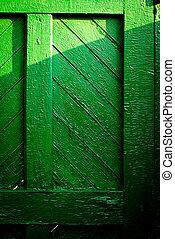 The old vintage wooden doors
