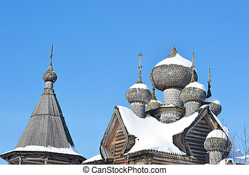 The old wooden church on the north of Russia.