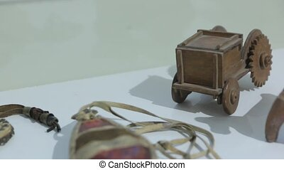 The Old Wooden Vehicle Toy