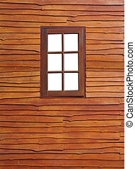 The Old wooden window on wood background
