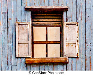 The Old wooden window